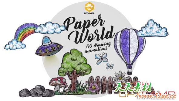 Paper World Over 60 Drawing Animations