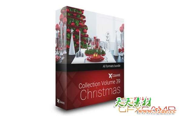 CGAxis-Models-Volume-39-3D-Christmas
