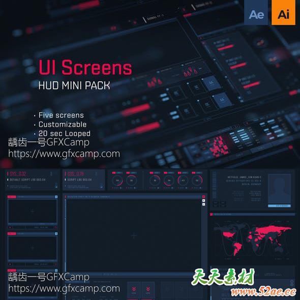 HUD UI Screens 1