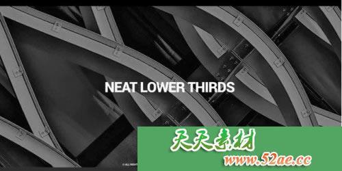PR模板 简单简洁文字字幕条视频模板 Neat Lower Thirds